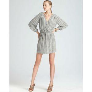 NWT JOIE Molly Herringbone Silk Dress